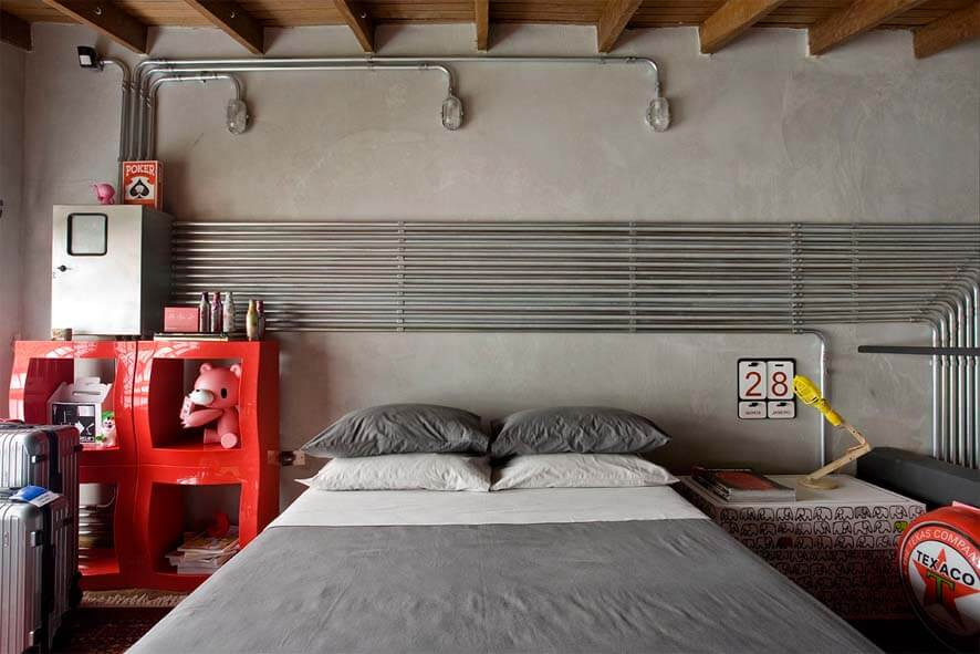 amazing industrial bedroom