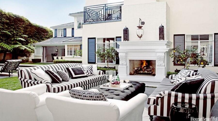 10 Gorgeous Black and White Patio Design Ideas - Interior Idea on White Patio Ideas id=28100
