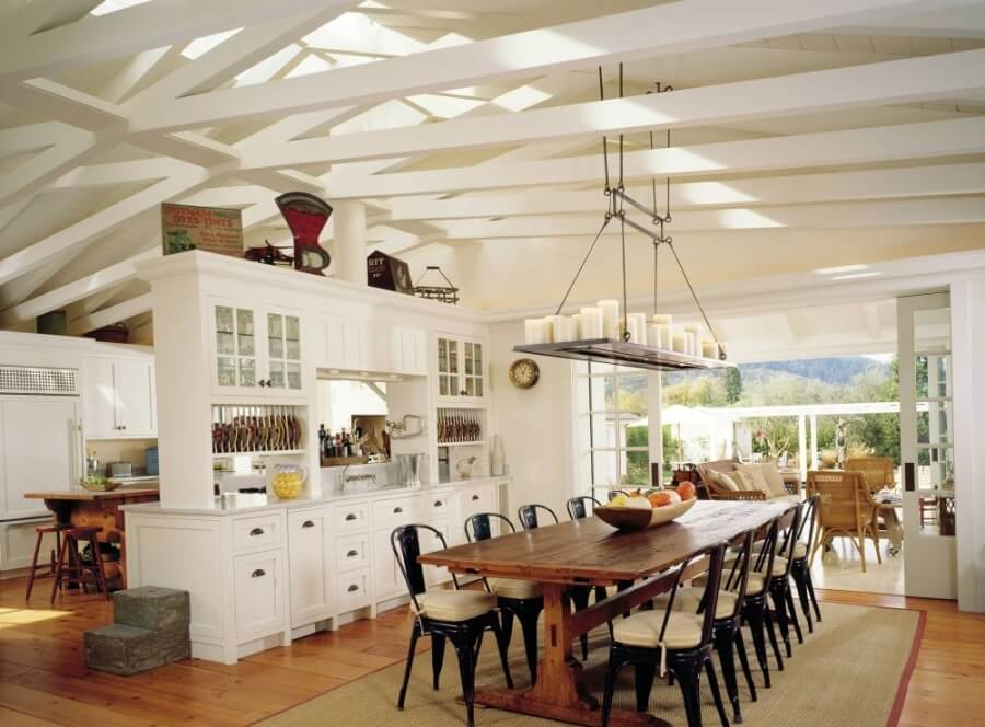 bright Rustic Dining Room