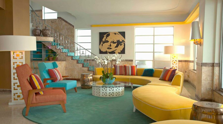 10 whimsical modern retro interior design ideas https for Living room ideas retro