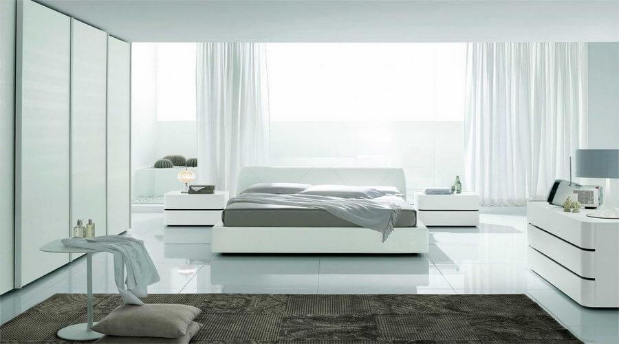 10 serene white bedroom interior design ideas - Fantastic color schemes for serene bedrooms ...