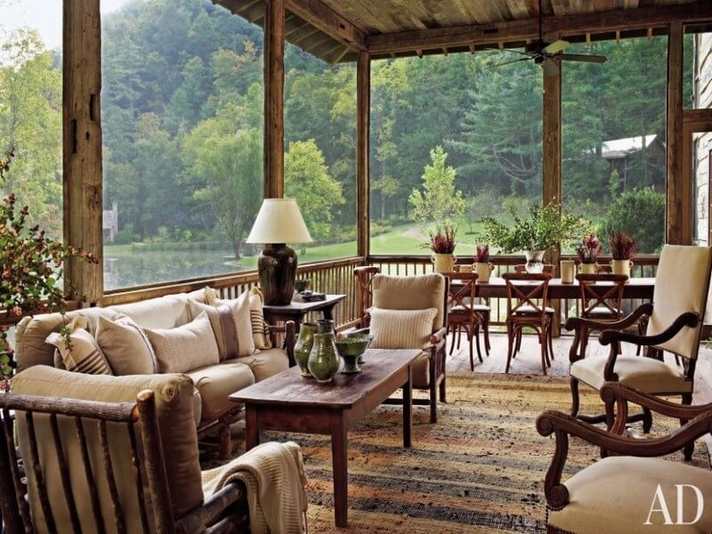 rustic-living-room-ideas-feats-glass-wall-with-natural-view-mixed-with-wooden-coffee-table-970x634