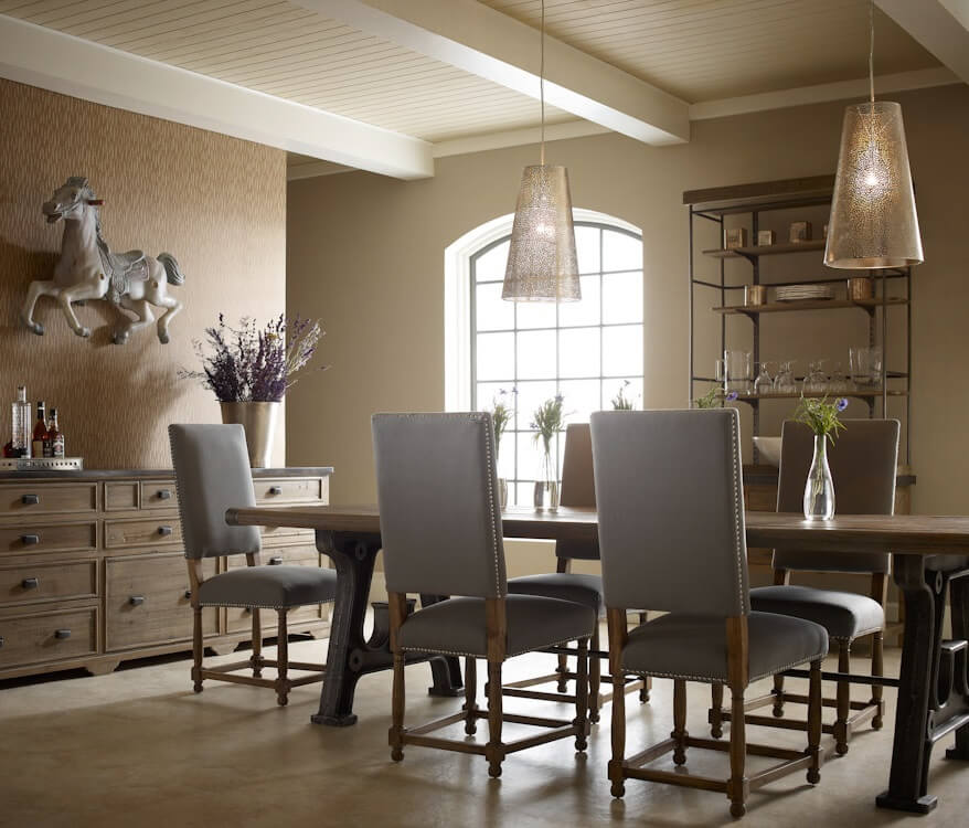 10 dramatic industrial dining room interior design ideas for Interior decoration of dining room