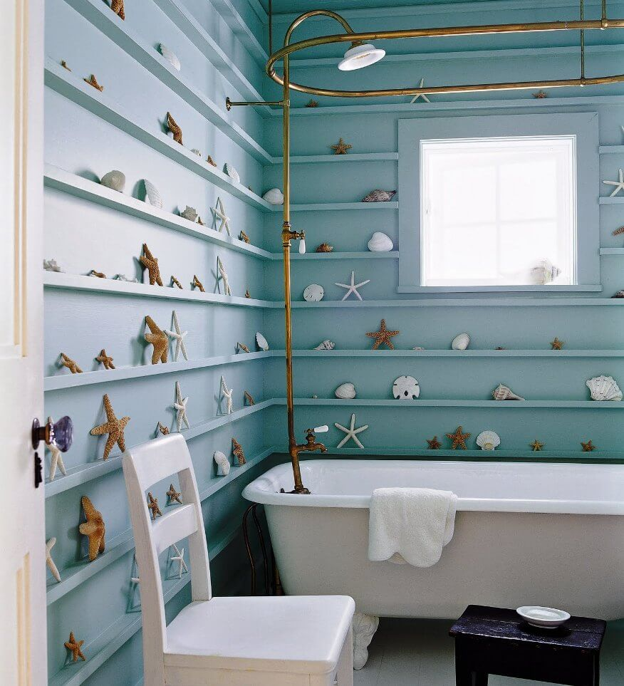 Cool Beach Inspired Bathroom