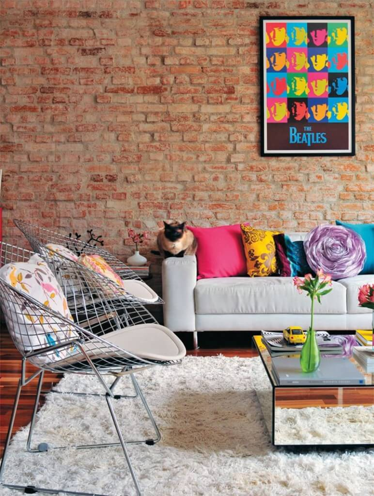 10 modern pop art living room interior design ideas for Salon haussmanien