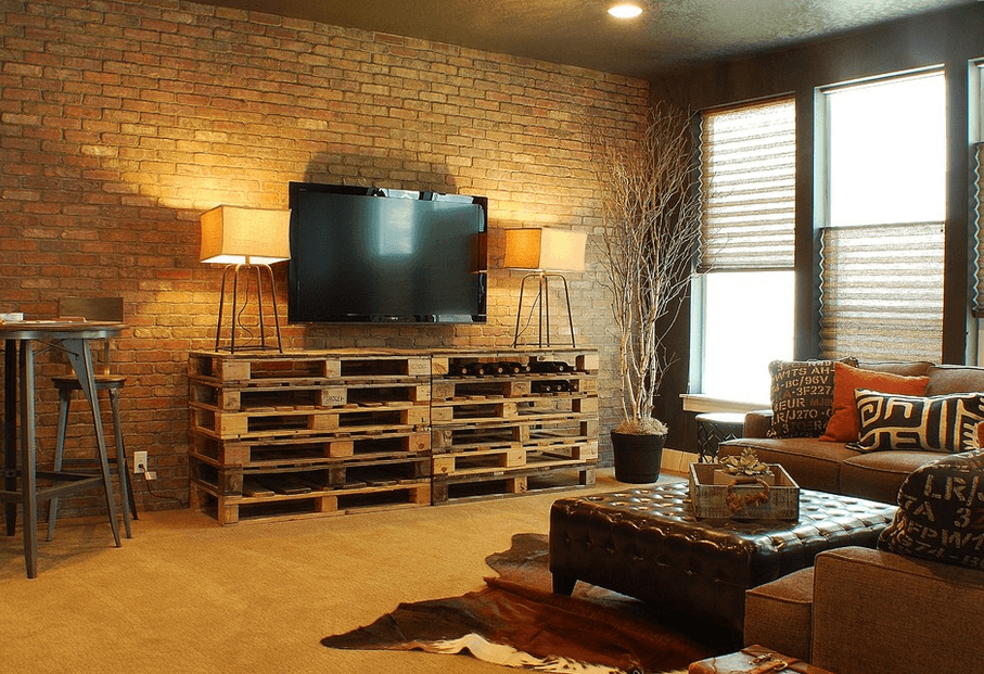 10 Charming Industrial Living Room Interior Design Ideas ...