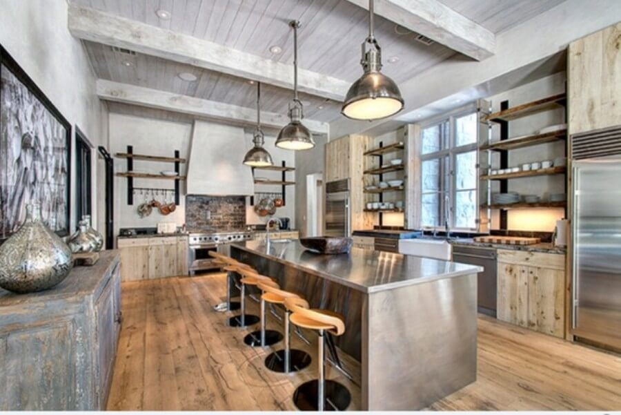 Industrial-Kitchen-with-valuted-Ceiling-700x467