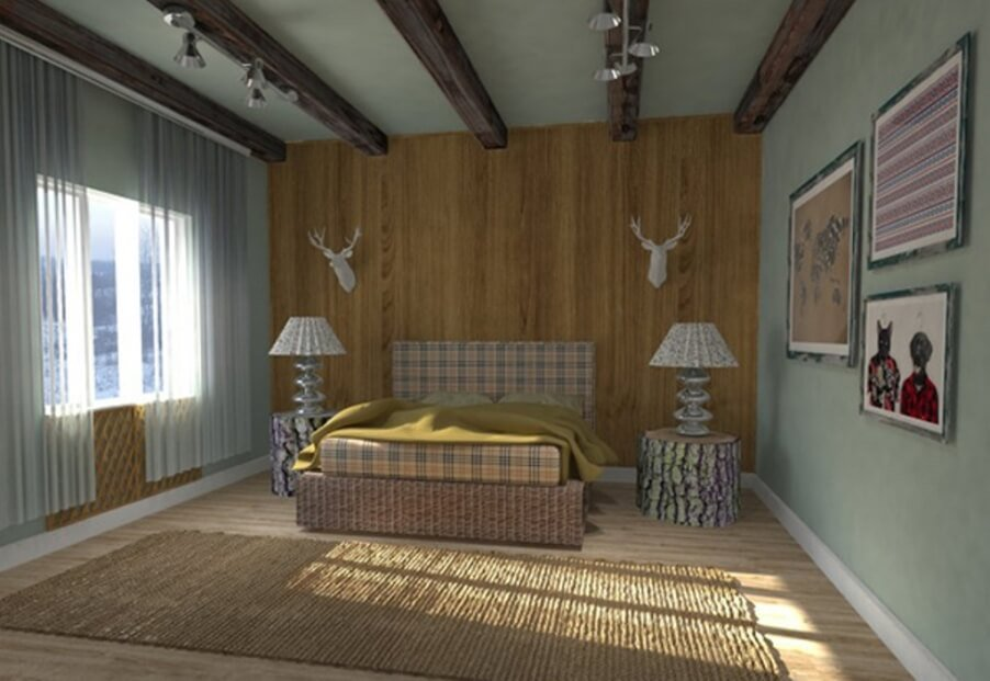 10 bedroom interior with roof beam design ideas https for Roof designs interior