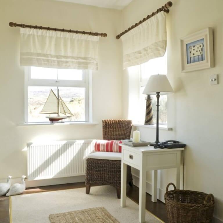 Sophisticated White Coastal Hallway