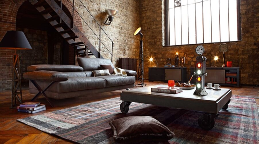 industrial-interior-design-living-room