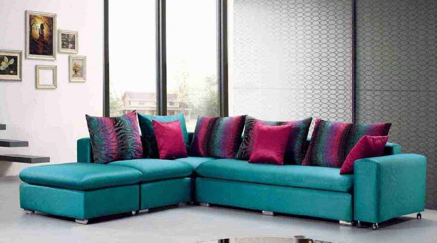 10 cheerful interior design ideas with colorful sofa - https