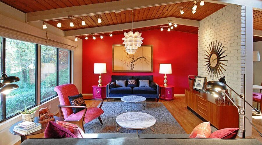 Bold Red Living Room
