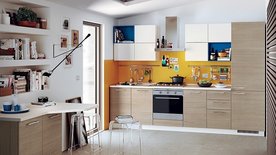 Lively Small Italian Kitchen