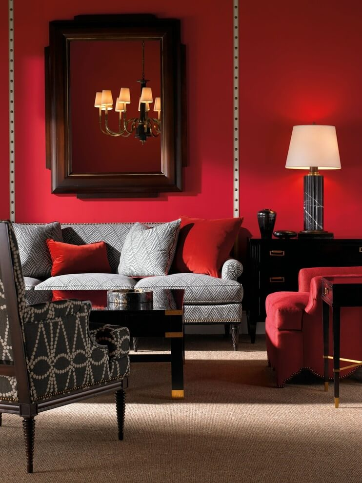 Opulent Red Living Room