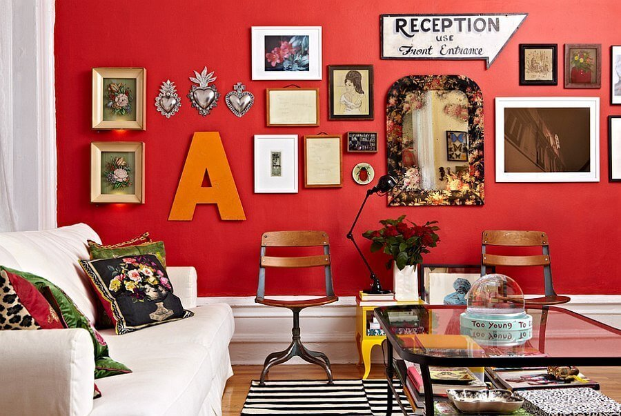Urban Red Living Room