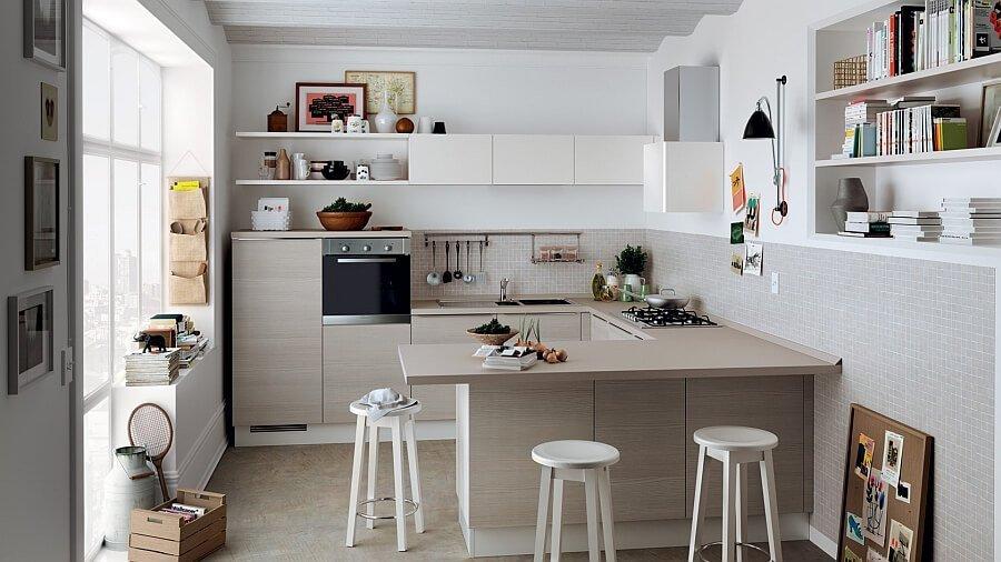 White Small Italian Kitchen
