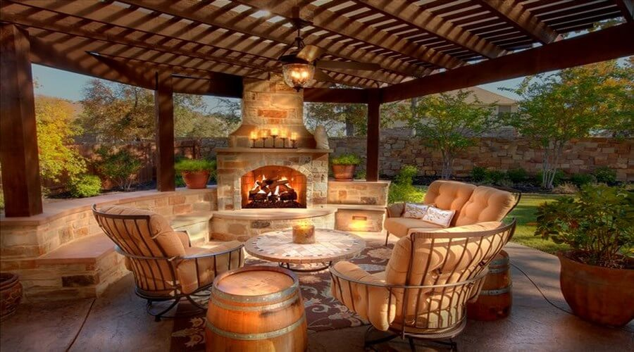 8 Gorgeous Outdoor Spaces with Fireplace Ideal for Autumn ... on Fireplace In Yard id=64855