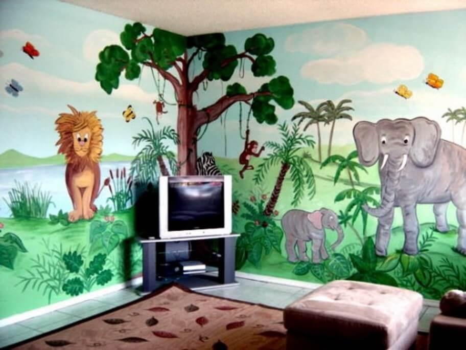 Bold Jungle Inspired Kid's Bedroom