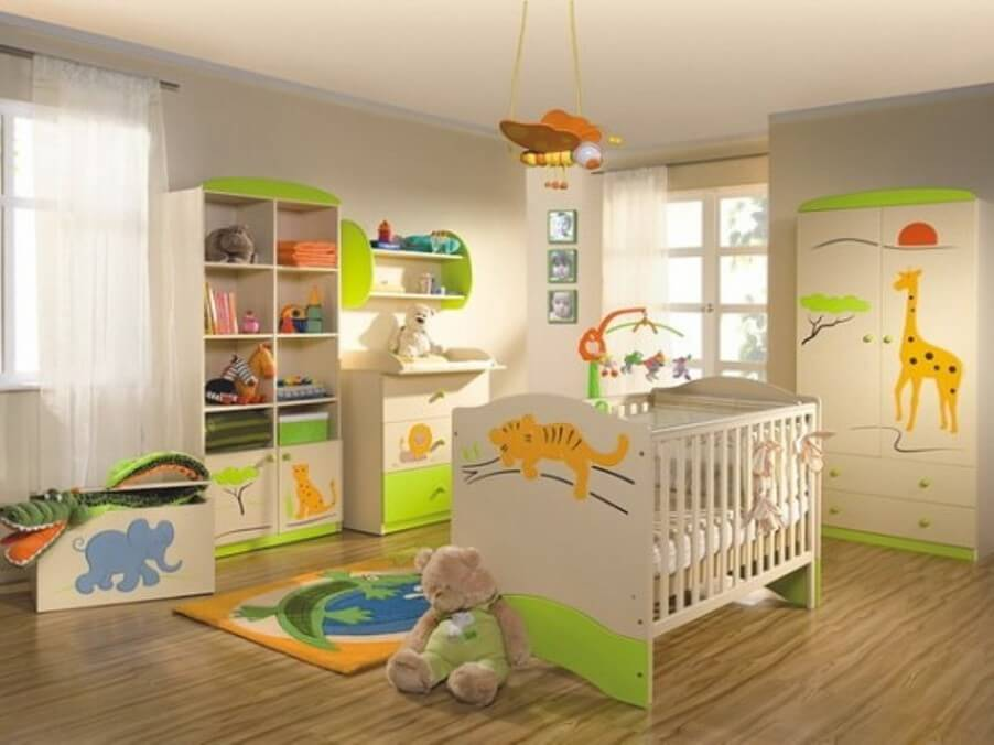 Bright Jungle Inspired Nursery