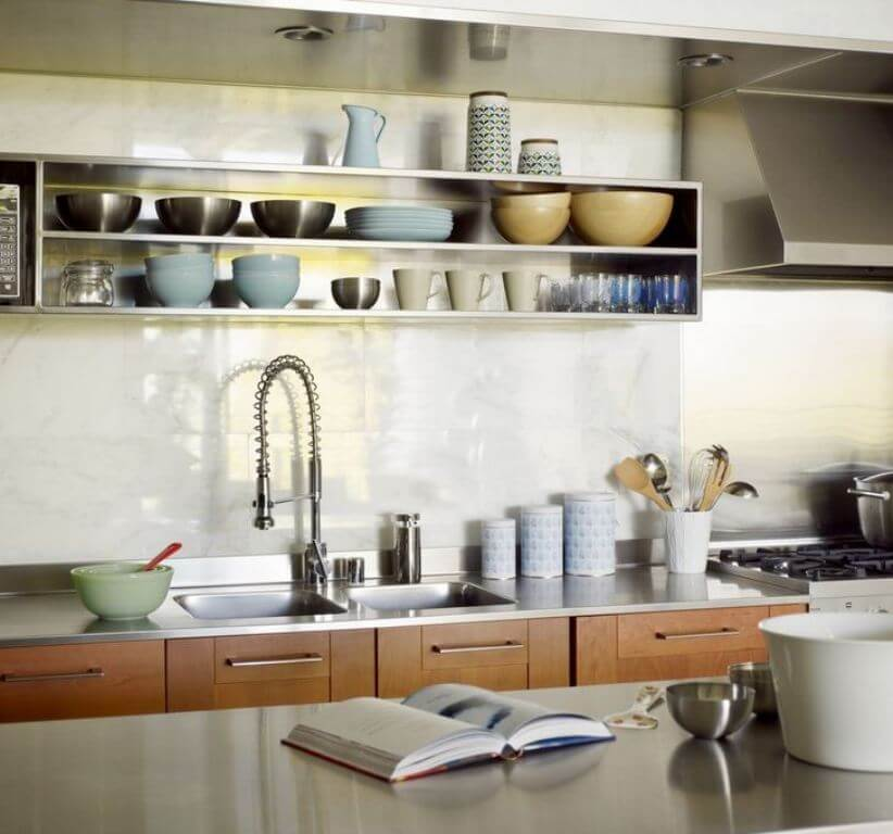 Open shelving in 8 amazing kitchen designs https Open shelving
