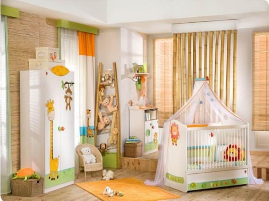 Charming Jungle Inspired Kid's Bedroom