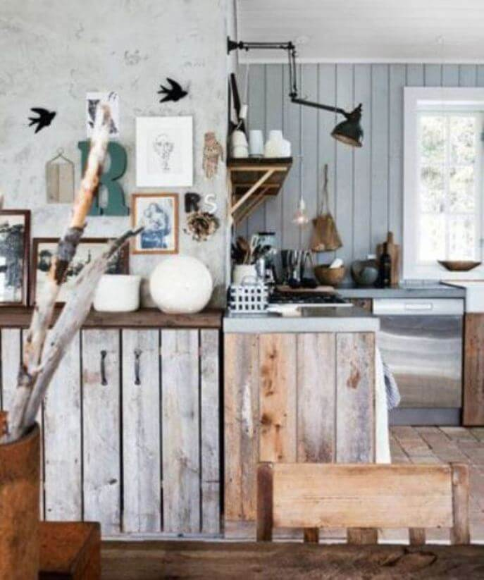 Cool Scandinavian Rustic Kitchen