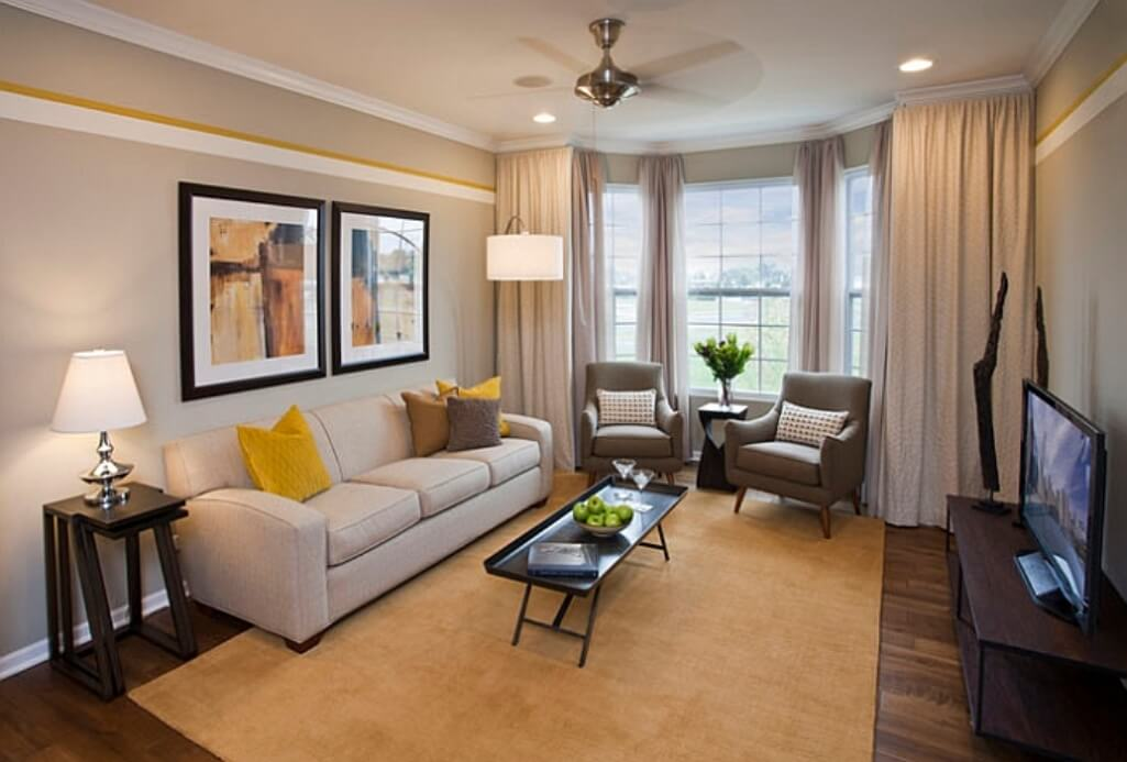 Best 15 gray and yellow living room design ideas https for Living room yellow color