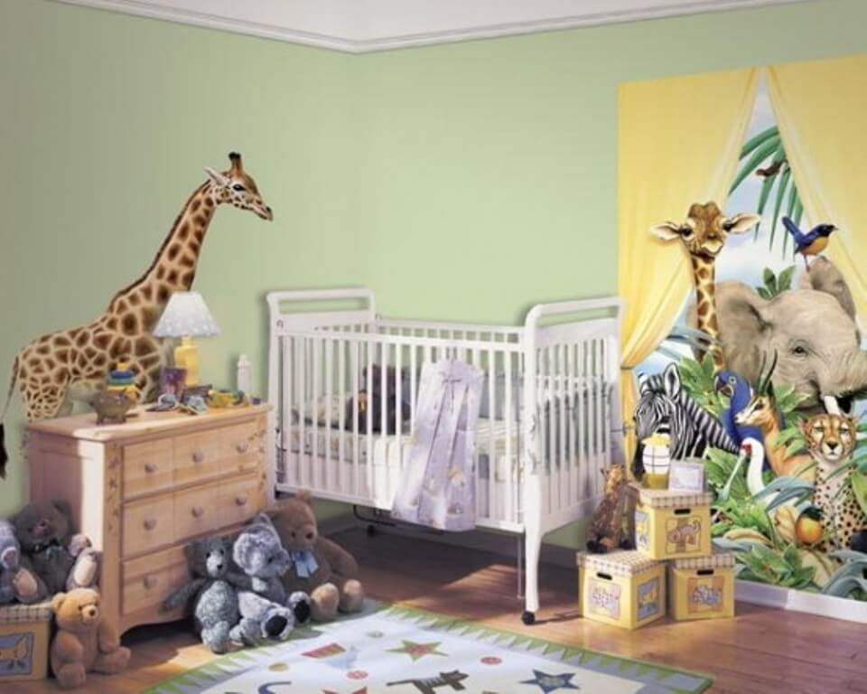 Lively Jungle Inspired Kid's Bedroom