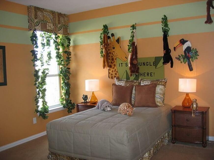 Lush Jungle Inspired Kid's Bedroom