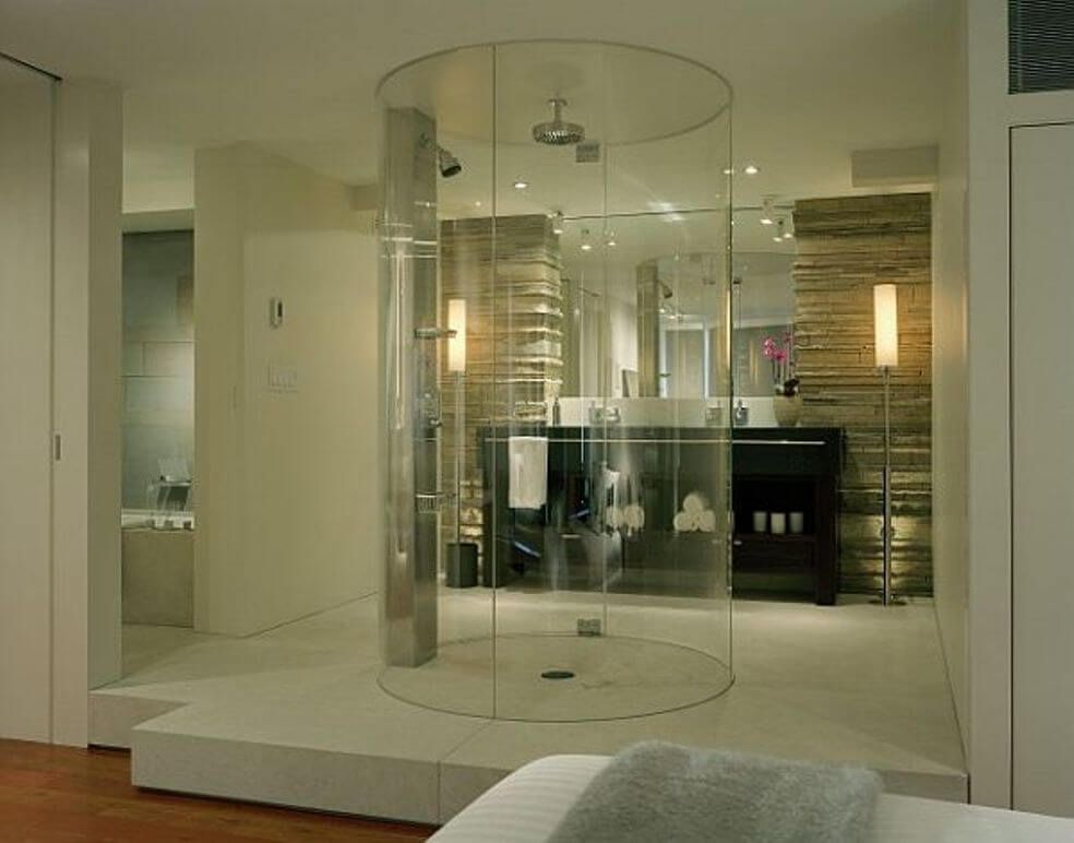 10 beautiful walk in shower design ideas https for Master bathroom modern