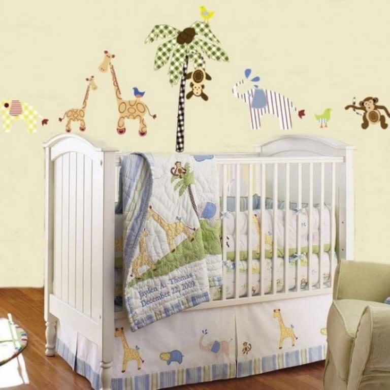 Soft Jungle Inspired Kid's Bedroom