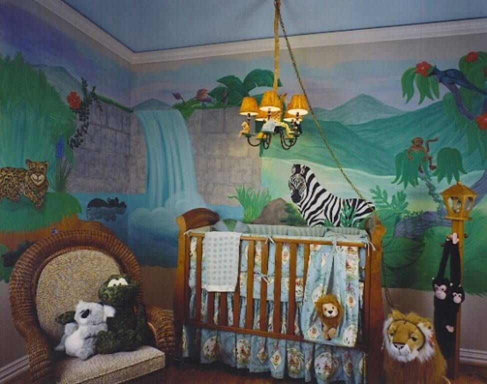 Whimiscal Jungle Inspired Kid's Bedroom