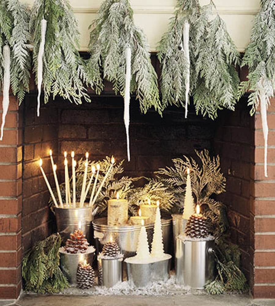 Top 7 christmas decor ideas with candles to warm up your for Christmas candle displays