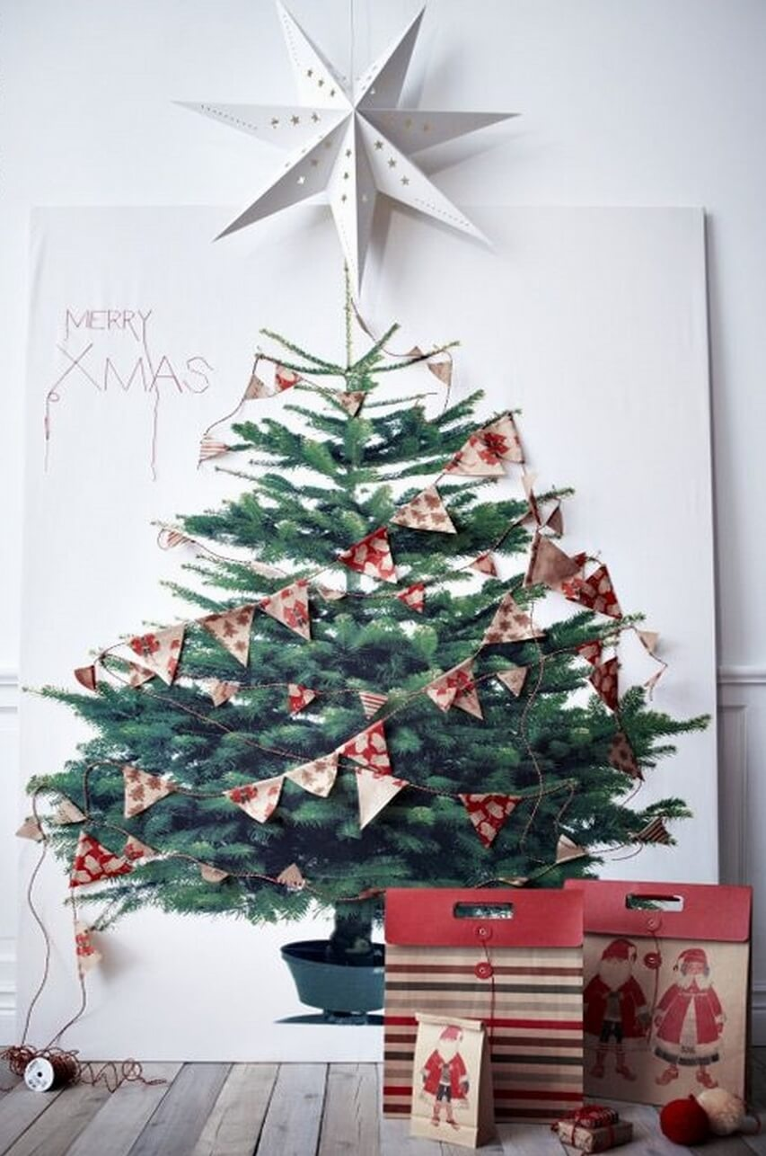 Textile Christmas tree design from Ikea