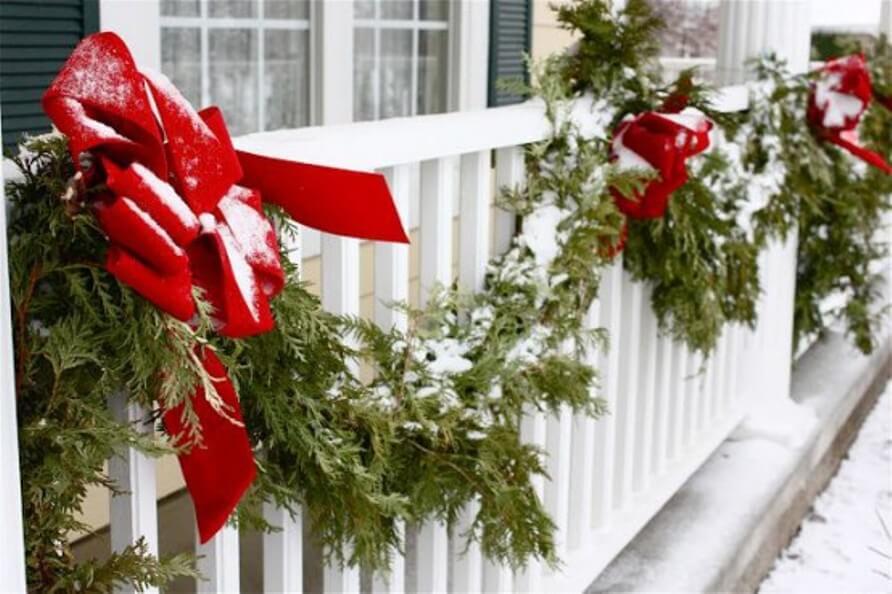 Cheery Christmas Balcony