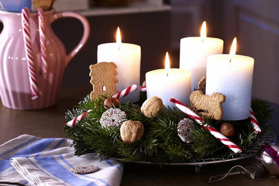 Top 7 christmas decor ideas with candles to warm up your home for 7 candle christmas decoration
