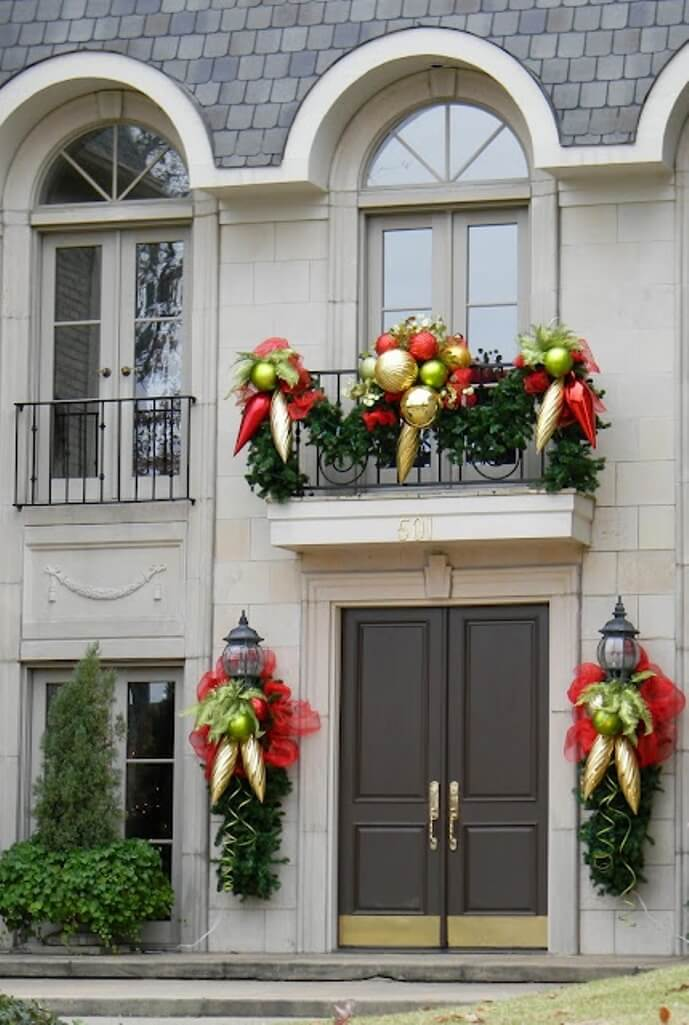 Dazzling Christmas Balcony
