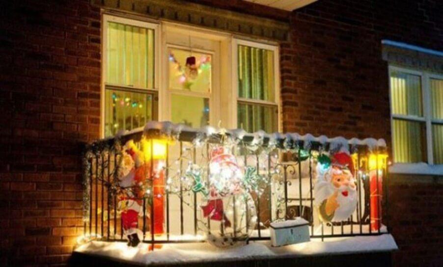Dramatic Christmas Balcony