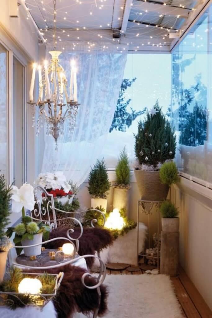 Dreamy Christmas Balcony
