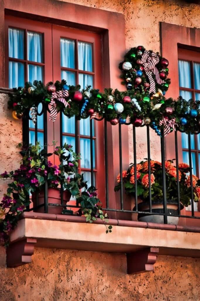 Festive Christmas Balcony