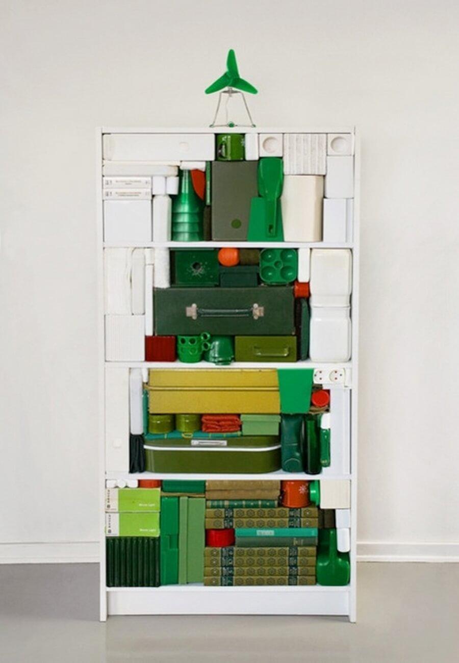 Tetris style shelf Christmas tree