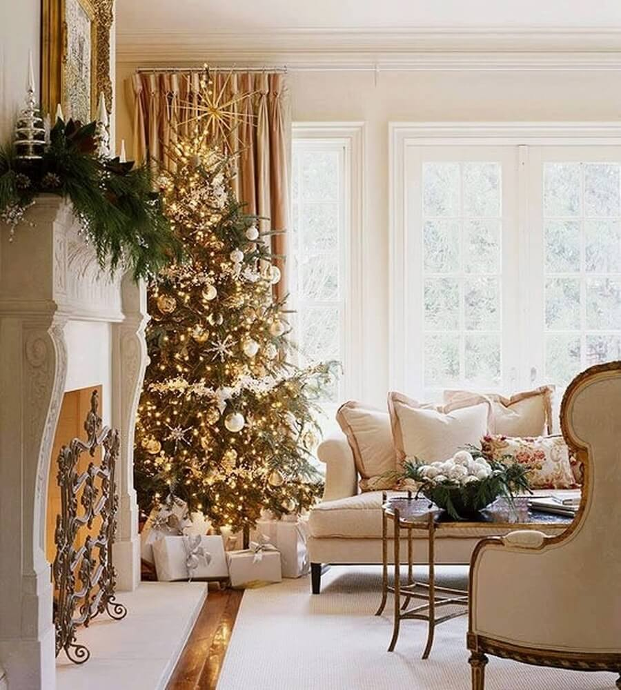 Golden bright living room