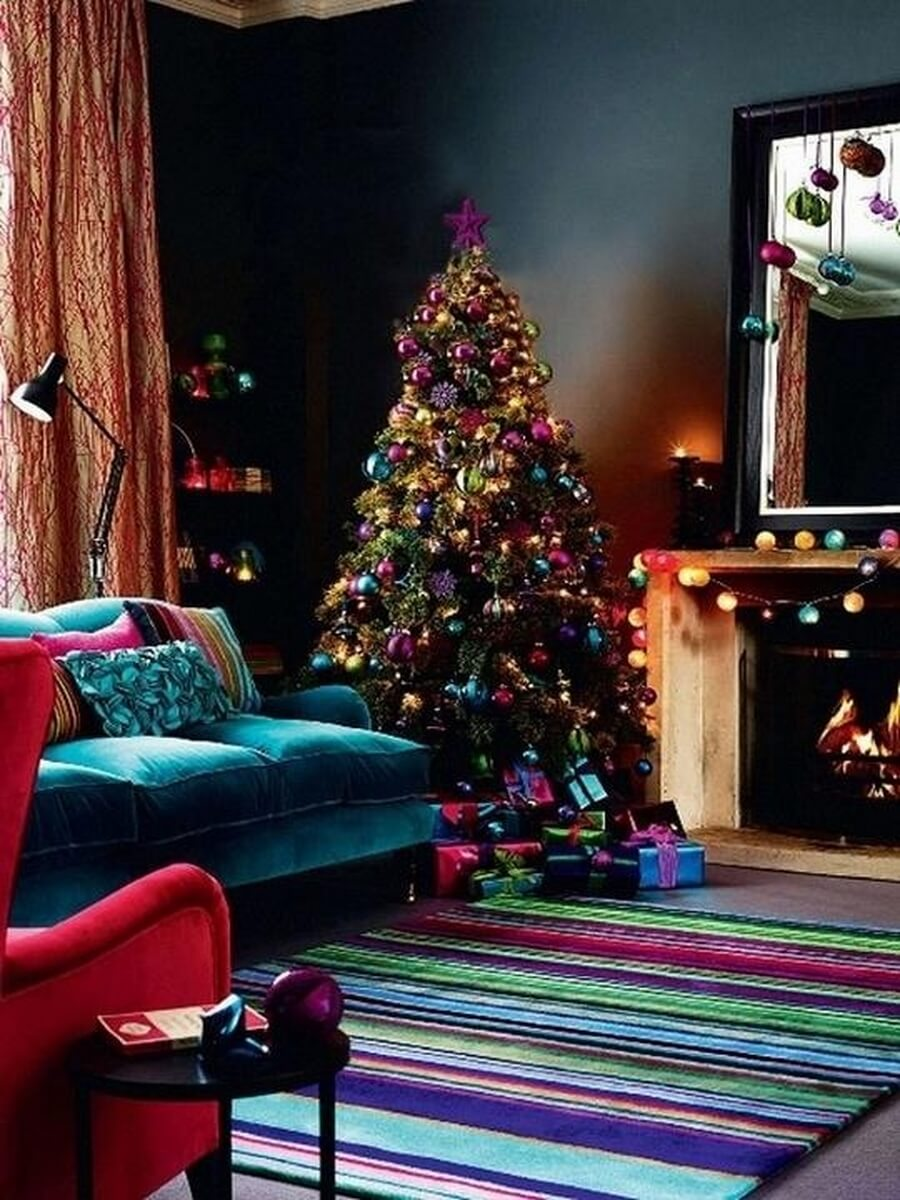 Super colorful holiday decor