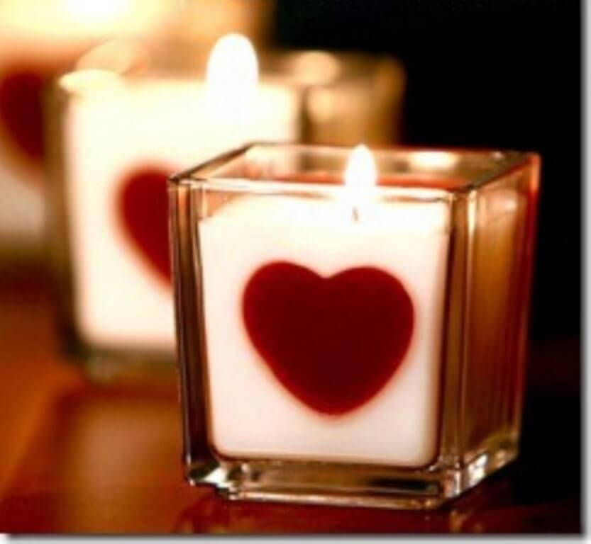 Beautiful Heart Candle