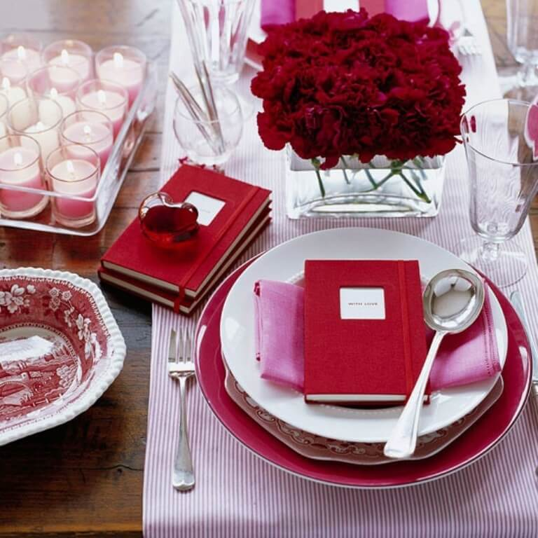 Charming Valentine's Table Setting