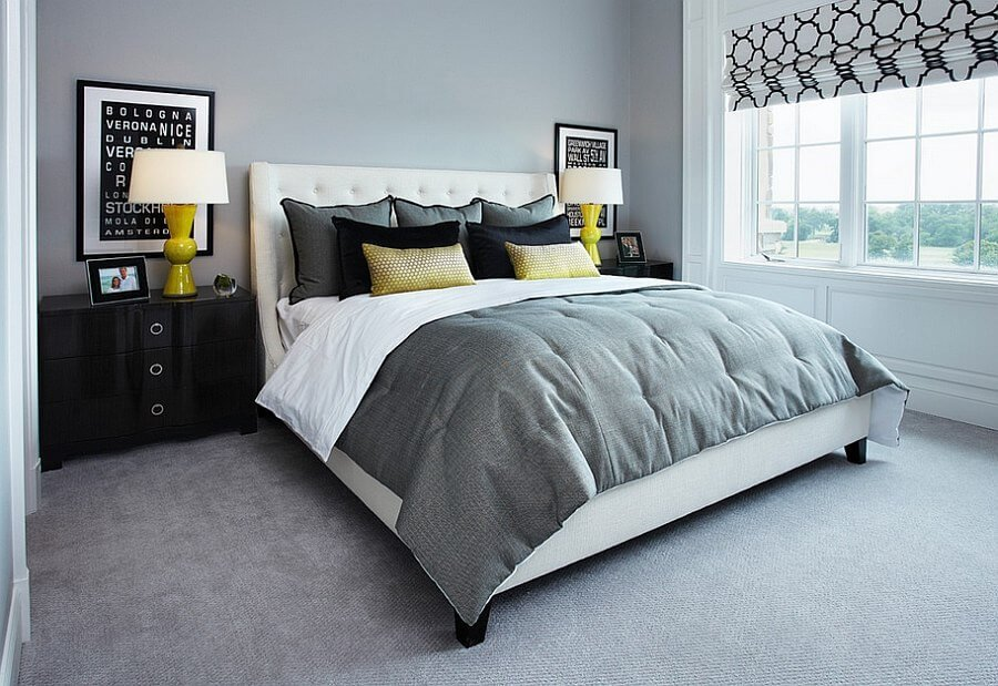 Best 12 grey and yellow bedroom design ideas for cozy and for Grey and yellow bedroom