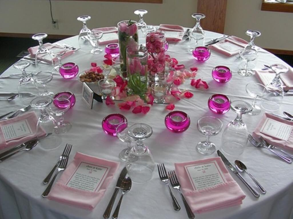 Cute pink candle holders