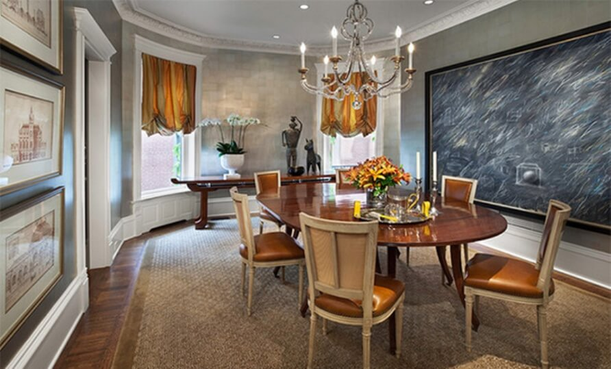 ELegant Dining Room with Chalkboard Wall