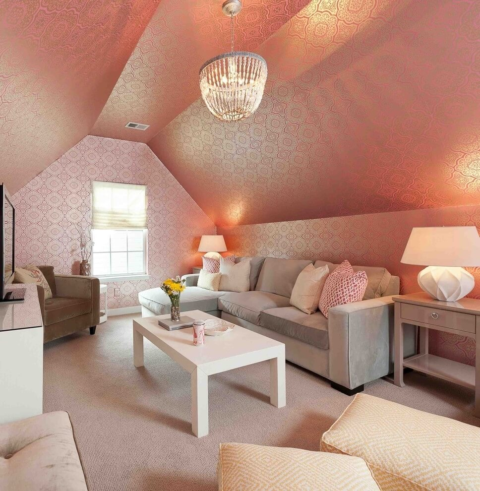 15 Utterly Bold And Sleek Attic Living Room Design Ideas