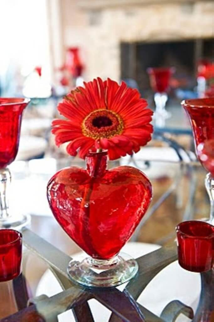 Heart shaped vase